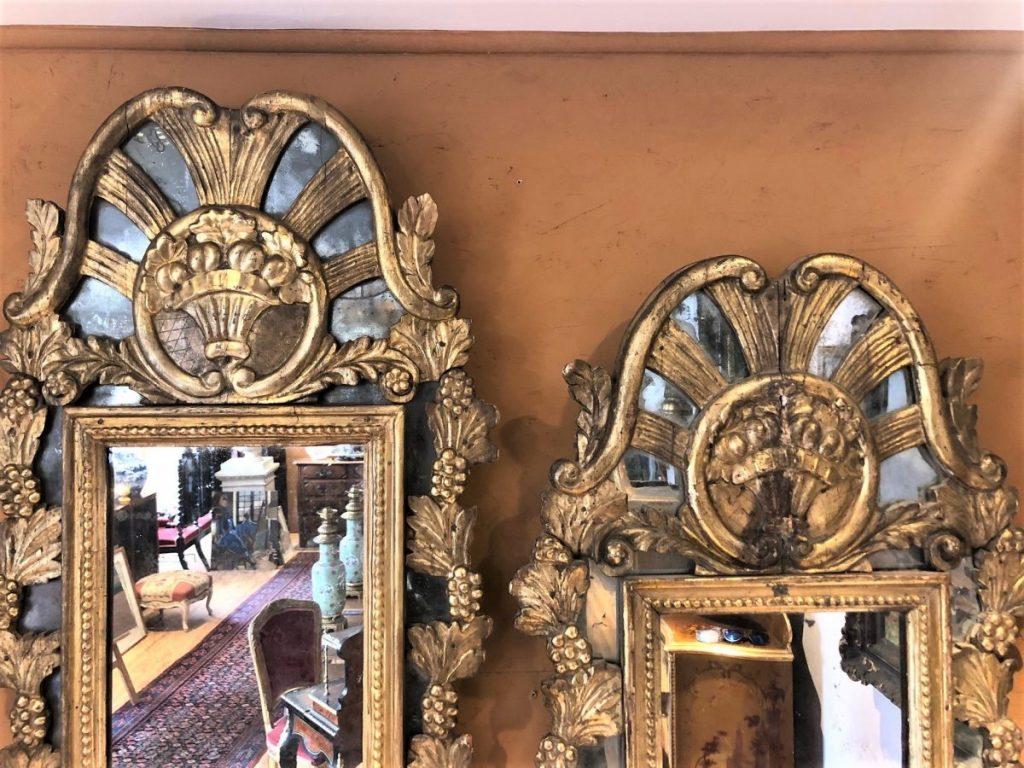Paire De Miroirs 18eme à Pare-closes