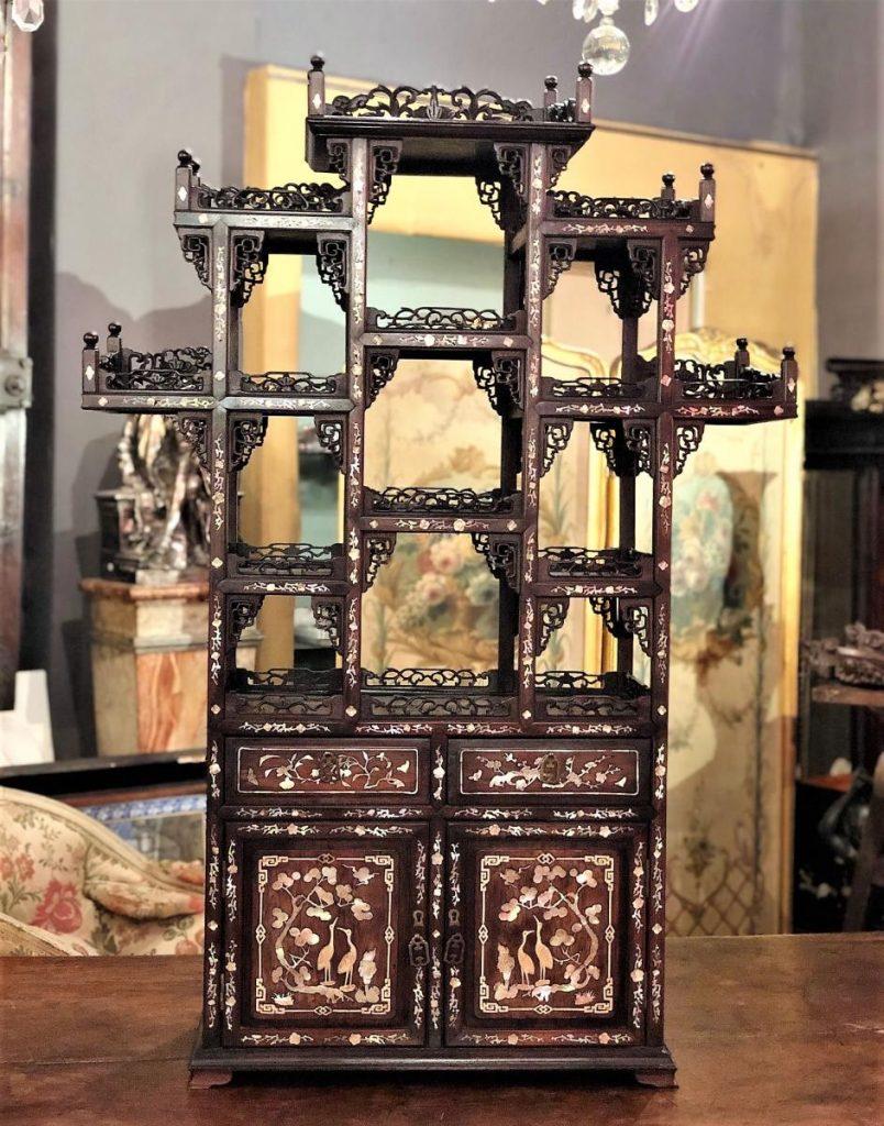 Cabinet De Collectionneur Chine 19eme